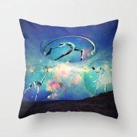 ballet Throw Pillows featuring Ballet by Cs025