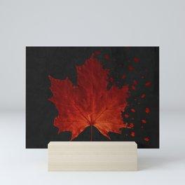 Maple Leaf Dispersion Effect Mini Art Print