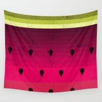 watermelon Wall Tapestries featuring Watermelon by Kakel