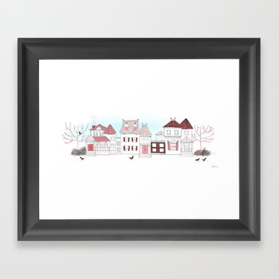 Victorian Houses Framed Art Print
