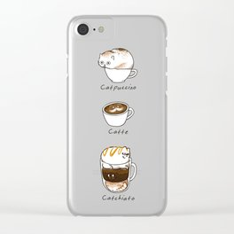 Coffee Right Meow Clear iPhone Case