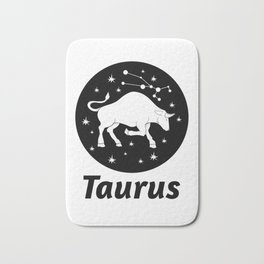 Taurus Zodiac Sign Bath Mat