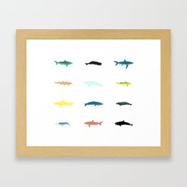 Swimmers Framed Art Print