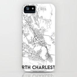 Minimal City Maps - Map Of North Charleston, South Carolina, United States iPhone Case