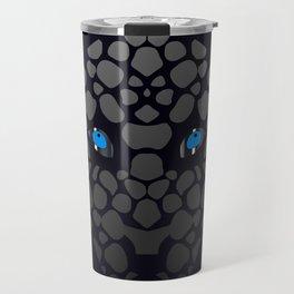 Abstract Chromium Panther Travel Mug