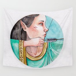 archery princess Wall Tapestry