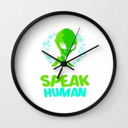 Aliens Sorry Alien Human Ufo Space Saucer Wall Clock
