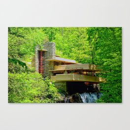 Frank Lloyd Wright | architect | Fallingwater Canvas Print