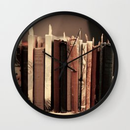 Old Books (brown) Wall Clock