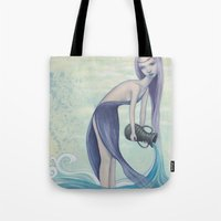 aquarius Tote Bags featuring Aquarius by Artist Andrea