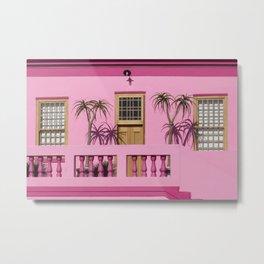 Cape Malay pink house Metal Print