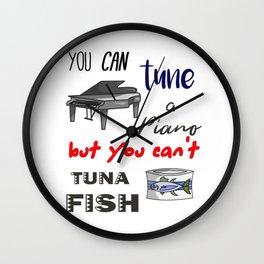 Dad Jokes - Funny Tuna and Tune a Piano Classic Wall Clock