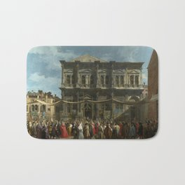 The Feast Day of St Roch by Canaletto Bath Mat