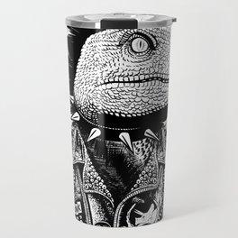 Crested Punk Velociraptor Travel Mug