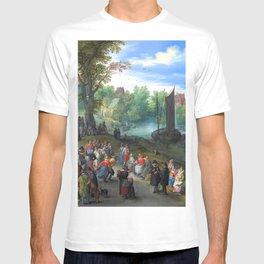 "Jan Brueghel the Elder ""People dancing on a river bank"" T-shirt"