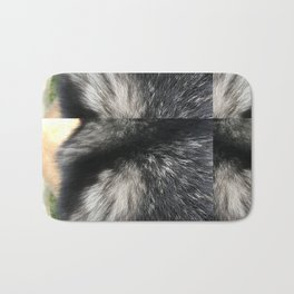 Furry Background Bath Mat