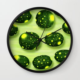 Home Grown Moon and Stars Watermelon Wall Clock