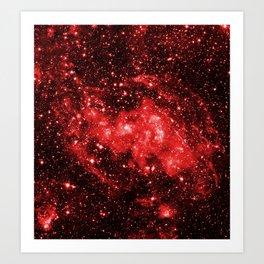 Chandra #1 Red Art Print