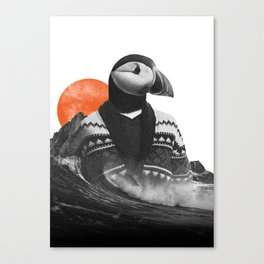 The Hipster Puffin Canvas Print