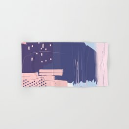 Blush Purple Blue Pink Decorative Abstract painting -1, Colour Symphony abstraction, Hand & Bath Towel