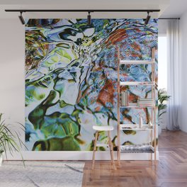 abstract stone and running water 1 Wall Mural