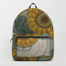 Mandala and Girl Design Backpack