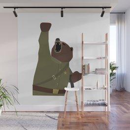 Soviet bear red army infantry ww2 Wall Mural
