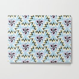 Aztec abstract painting lines Metal Print