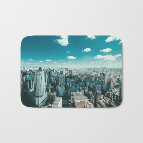 city blue 4 Bath Mat