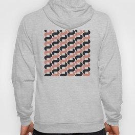Geometric Pattern #184 (pink black knots) Hoody
