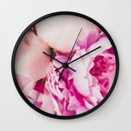 Peony Petals Wall Clock