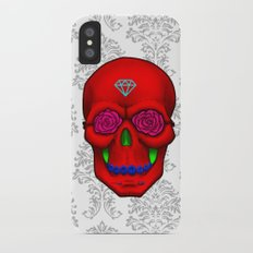 FLOWER SKULL iPhone X Slim Case