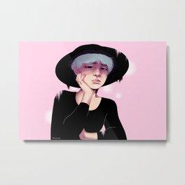 Pink Yoongi Metal Print