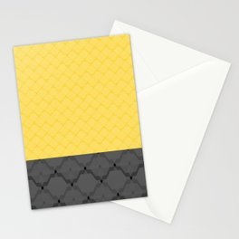 Gray yellow block Stationery Cards