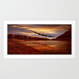 Flying Low Art Print