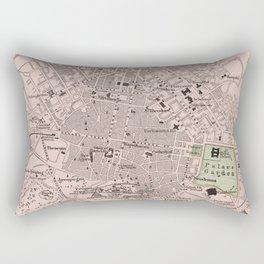 Vintage Map of Athens Greece (1901) Rectangular Pillow