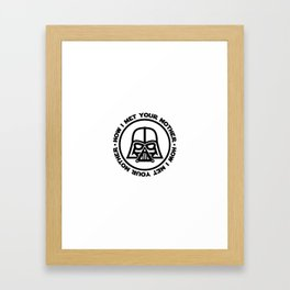 darth-mother Framed Art Print