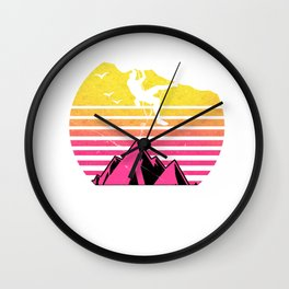 Awesome Vintage Rock Climbing Gift Retro Climber Bouldering Print Wall Clock