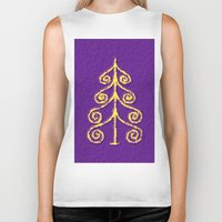 christmas tree Biker Tanks featuring Christmas Tree* by Mr and Mrs Quirynen