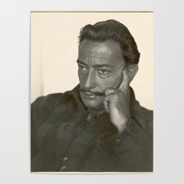 Salvador Dali old photo Poster