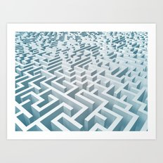 Rectangular Maze Art Print