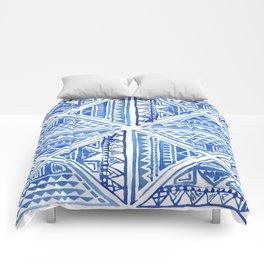 Geo tile art Comforters