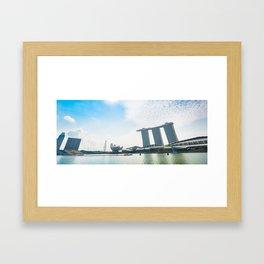 marina bay sands in singapore Framed Art Print