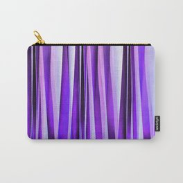 Luxurious Lilac, Purple and Silver Stripy Pattern Carry-All Pouch