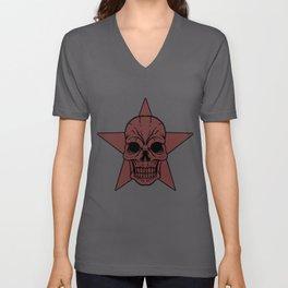 Skull Star Human Skeleton Teeth Bones  Mask  Gift Unisex V-Neck