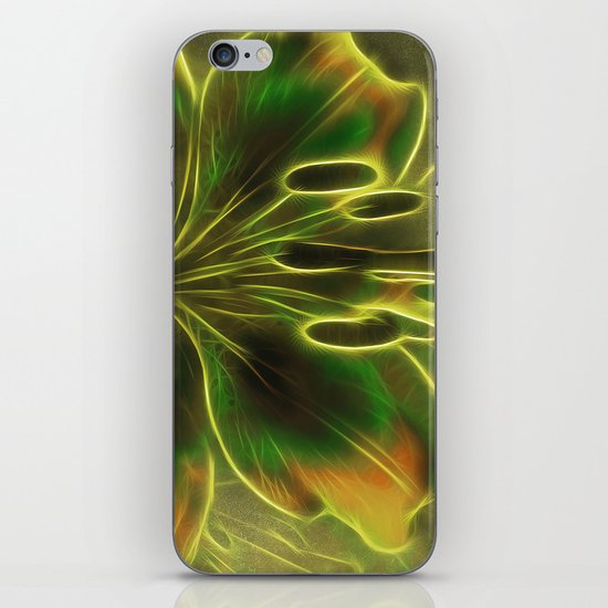 Green Lily Reflections iPhone & iPod Skin