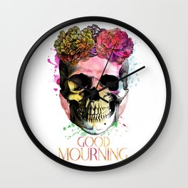 Good Mourning Wall Clock
