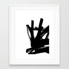 Abstract black & white 1 Framed Art Print