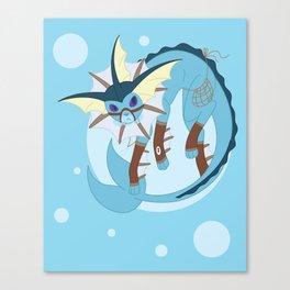 Water Steampunk Fox Canvas Print