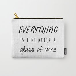 Fine with Wine Carry-All Pouch